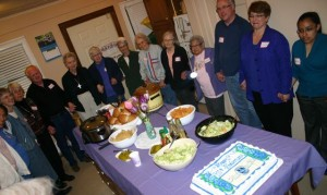 Visitation Companions share a meal together
