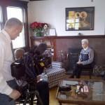 Sr. Katherine being interviewed by Fox 9 Reporter, Maury Glover
