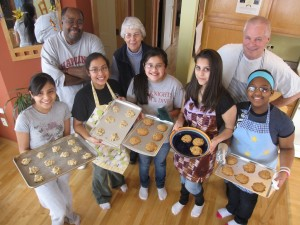 Cookie Baking Crew at St. Jane House