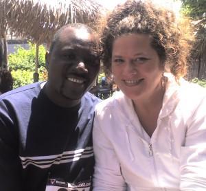 Melissa alongside her recently married husband, Francois