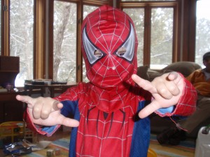 Liam as Boy Spiderman!