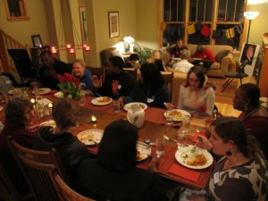 Breaking bread with Mary Johnson and other Northside neighbors