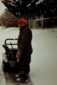 Faithful snowblowing friend, George Perez