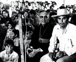 Archbishop Romero among the people