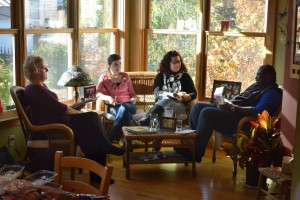 A small group at St. Jane House.