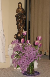 Mary with Lilacs