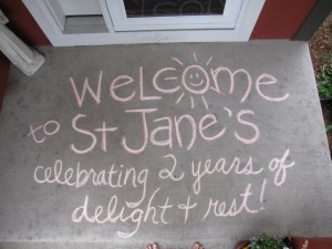 Sidewalk Chalk WELCOME TO ST. JANE's!