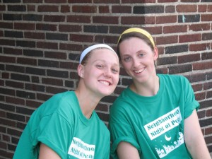 Maddy and Clare, Visitation '10 Grads, did a phenomenal job running the games
