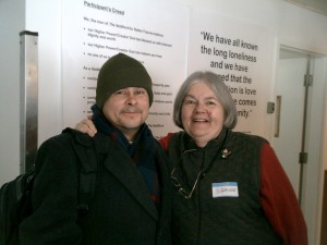 Sr. Suzanne and collaborator at the NetWork for Better Futures