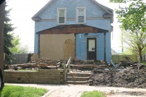 A northside home hit by tornado on May 22, 2011
