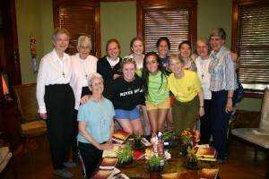 Visitation Seniors with Visitation Sisters