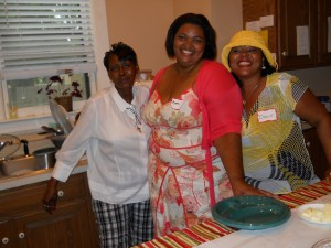 Our Salesian friends and neighbors Linda, Bianca and Dorice join us for dinner