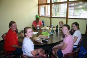 Visitation Students volunteering at Kwanzaa's Northside Women's Space