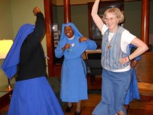Sr. Karen joins the dancing