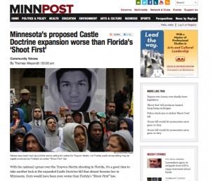 MinnPost Headline.Trayvon