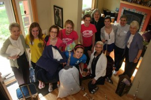 Visitation Seniors and Sisters at St. Jane House for Service Learning 2012
