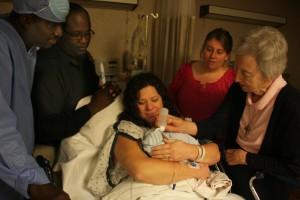 """Sr. Mary Margaret baptizes Xavi Jean """"Priest, Prophet, King!"""""""