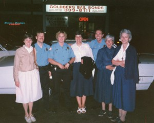 "From the archives: Founding Sisters ""bond"" with community members."