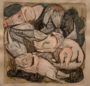 The Prodigal Son Among Swine - by Max Beckmann