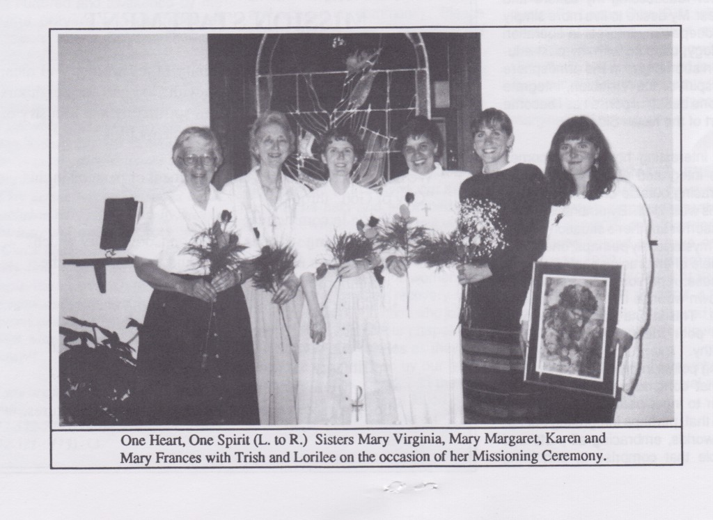 First Vis Neighbors Commissioning Ceremony,  Winter, 1994 Newsletter