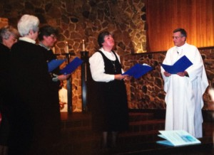 Sr. Suzanne reciting first vows in 1999 at Church of St. Philip parish in north Minneapolis