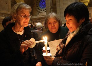 Sisters with Candles Catholic Spirit
