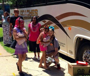 Saying goodbye for camp.
