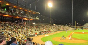A packed stadium