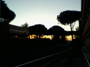 Sunrise on my last day in Rome