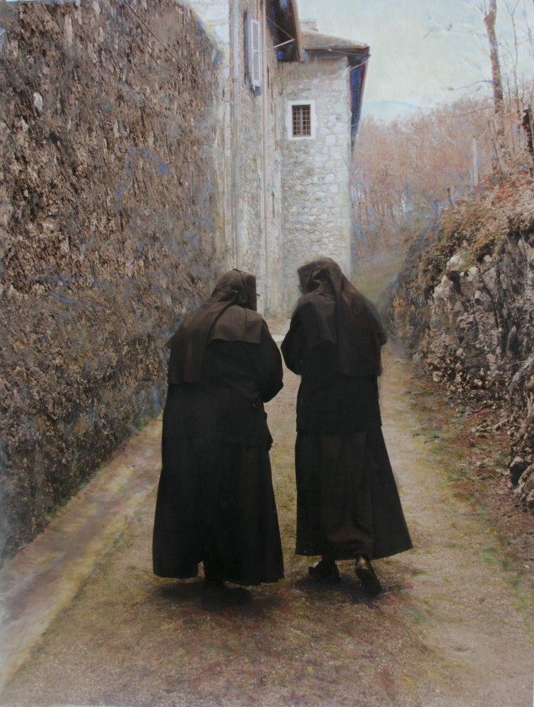 """Confering"" by Anne Goetze Annecy Nun Series (with permission)"