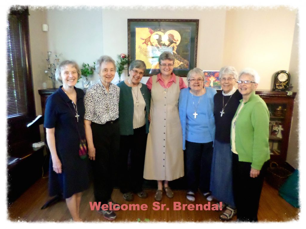 Welcome Brenda LIsenby to the Novitiate