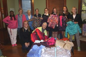 Visitation Students help at winter coat drive